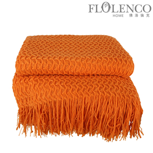 暗纹毯-橙