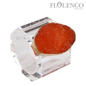 矿石餐巾扣-橙色