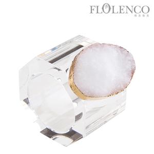 矿石餐巾扣-白色