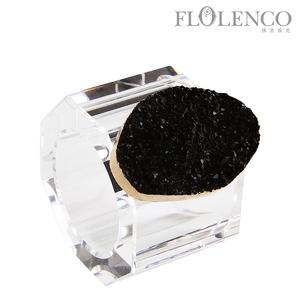 矿石餐巾扣-黑色